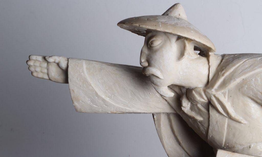 大禹治水玻璃钢人物雕塑