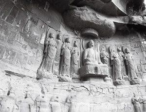 龙门石窟中国古代佛像雕塑群组