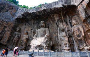 中国古代佛像雕塑唐代摩崖造像高清图