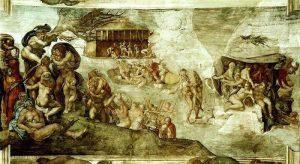 米开朗基罗的创世纪局部高清图