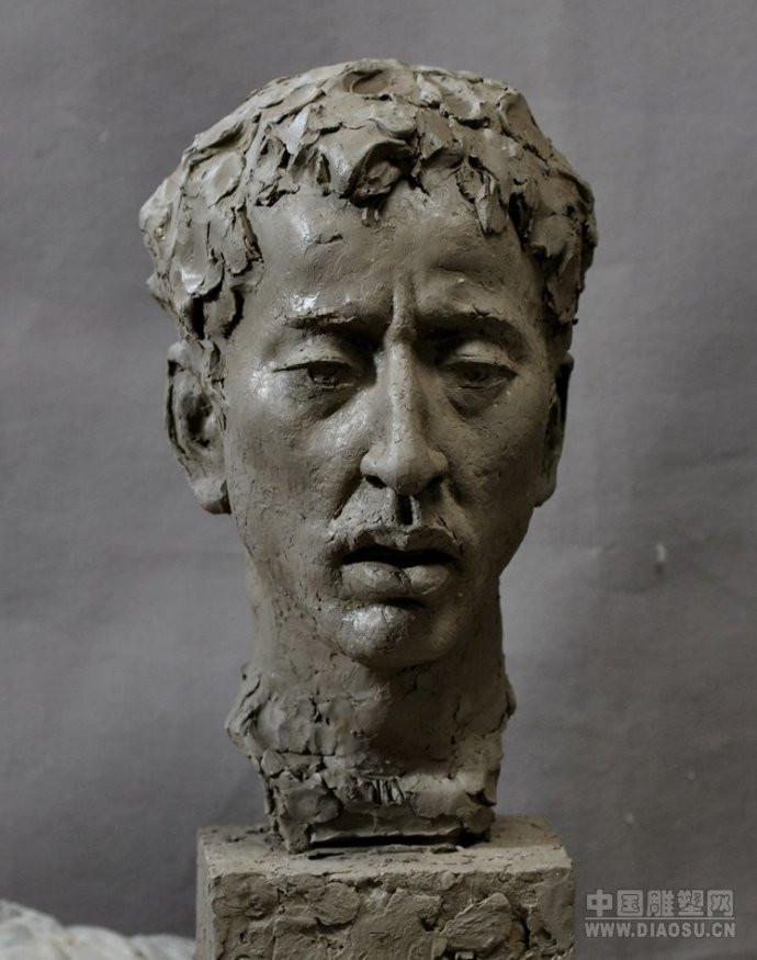 中国人物肖像雕塑泥塑作品