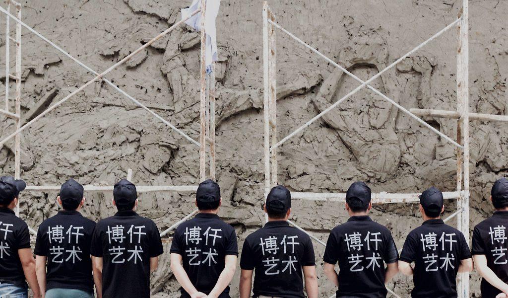 博仟雕塑厂雕塑加工人员部分合照