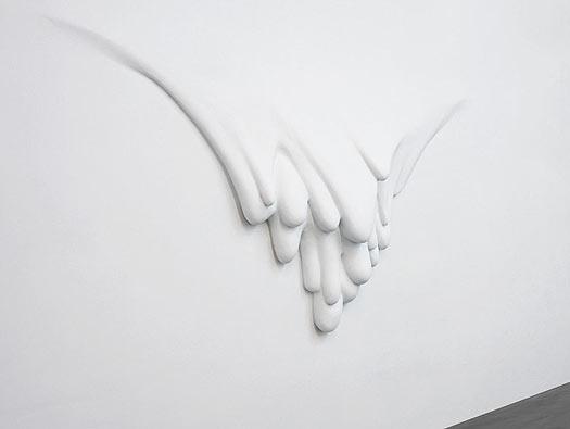 流水抽象不锈钢喷漆雕塑