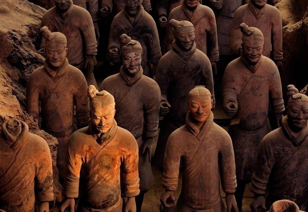 兵马俑人物雕塑群雕