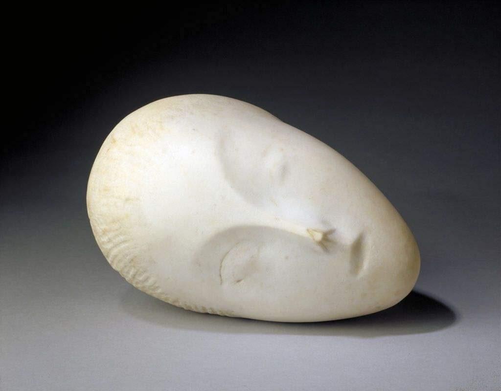 布朗库西人头肖像汉白玉抽象雕塑