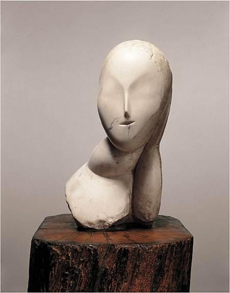 布朗库西抽象人物石膏架上雕塑艺术品