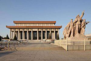 毛主席纪念堂景观建筑与群雕