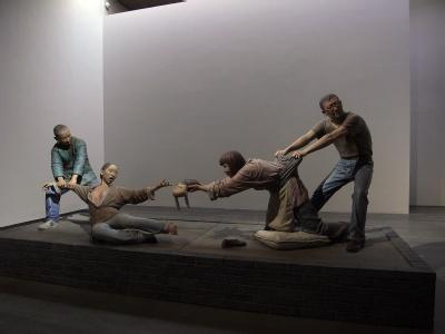 后现代抗战政治性雕塑人物