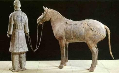 秦汉雕塑牵马等人物雕塑石雕