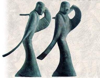 秦汉雕塑跳舞陶俑人物雕塑