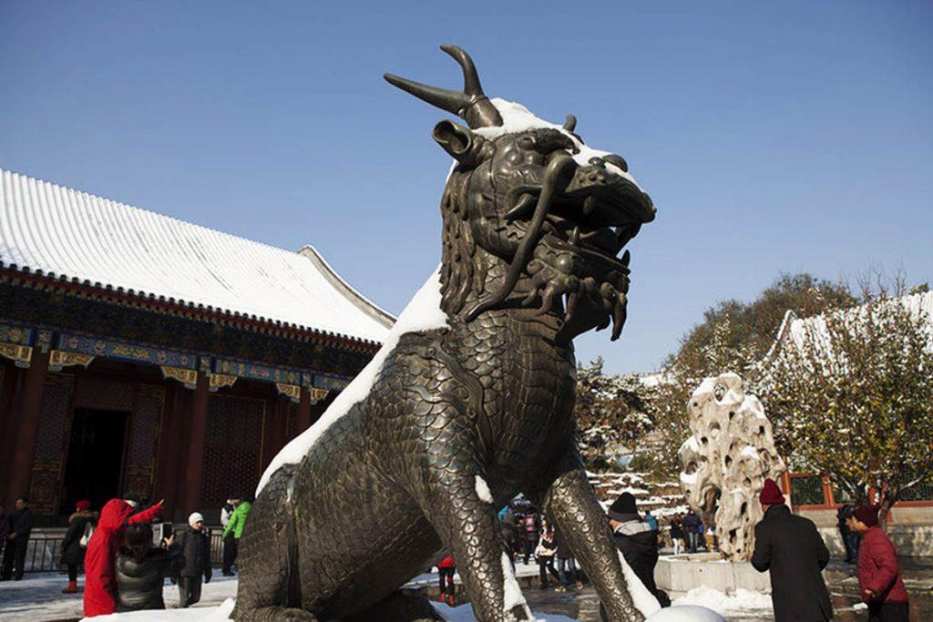 铜狮子动物雕塑