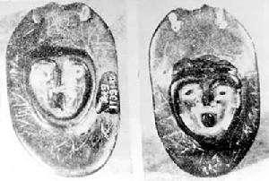 中国原始雕塑人像石材雕塑