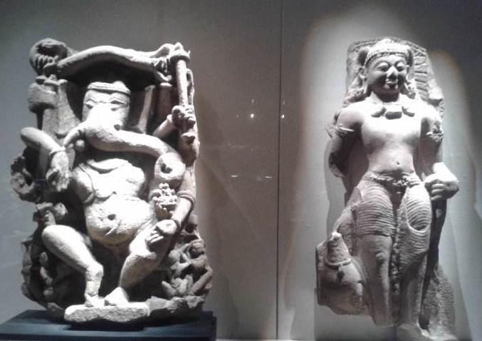古印度人像雕刻雪山神女