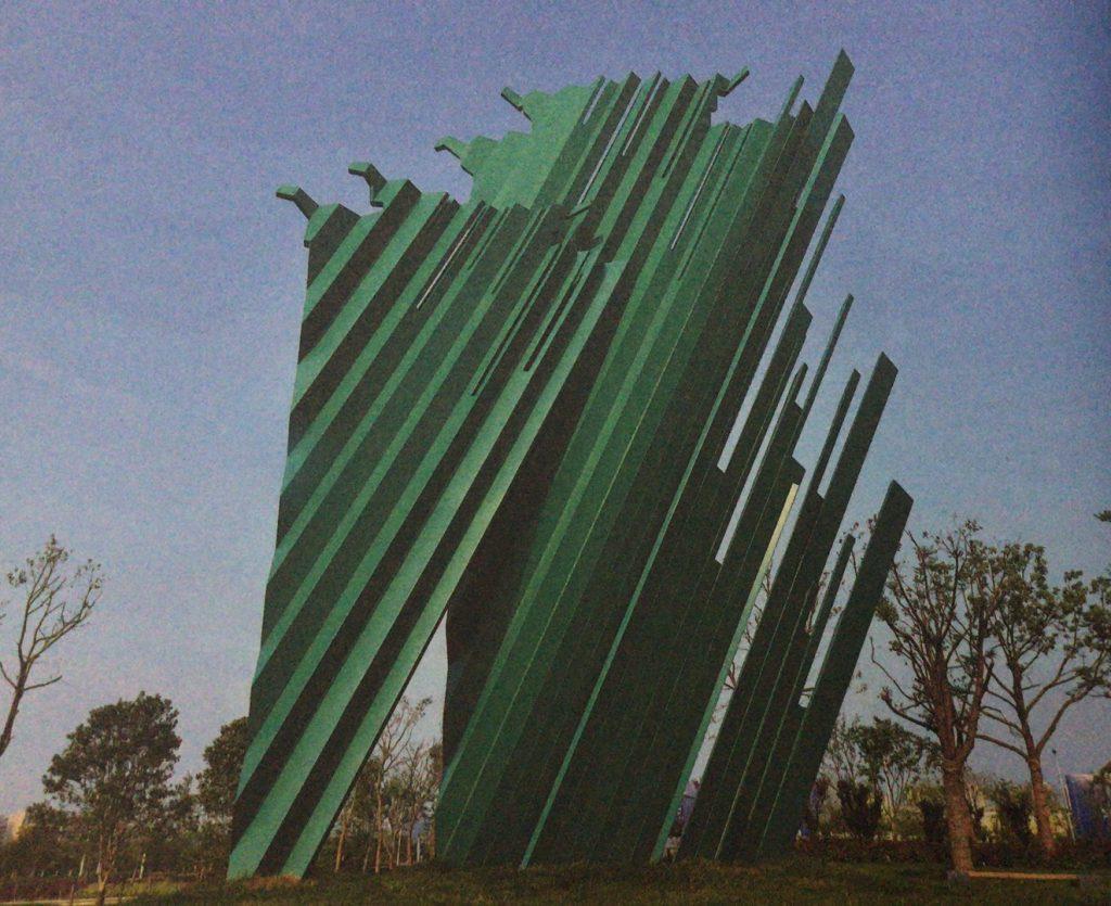 春风又绿江南岸-不锈钢锻造城市景观雕塑案例