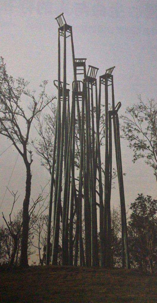 竹林七贤-板凳铸铜城市景观雕塑