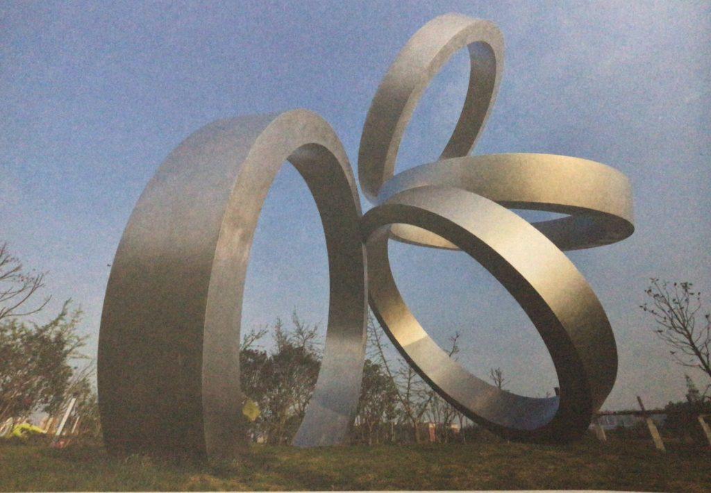 一瞬-大型不锈钢环形城市景观雕塑