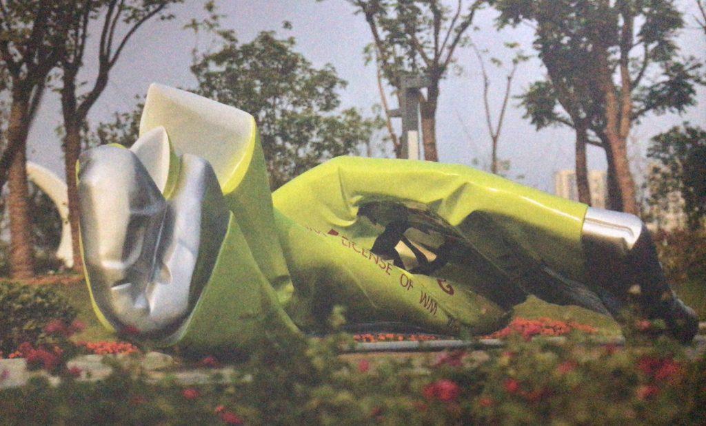 蜕-绿箭口香糖不锈钢城市景观雕塑