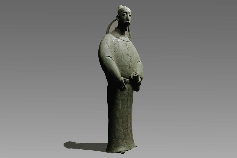 《名仕.段成式》古代人物锻铜雕塑高清图