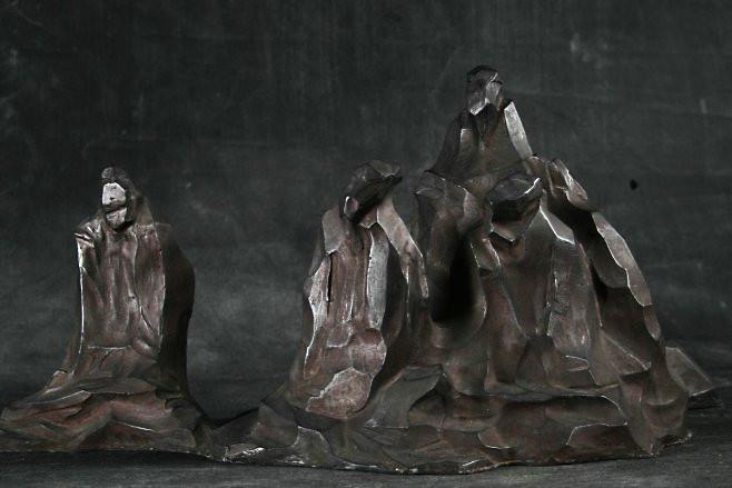 铸铜雕塑群组抽象雕塑