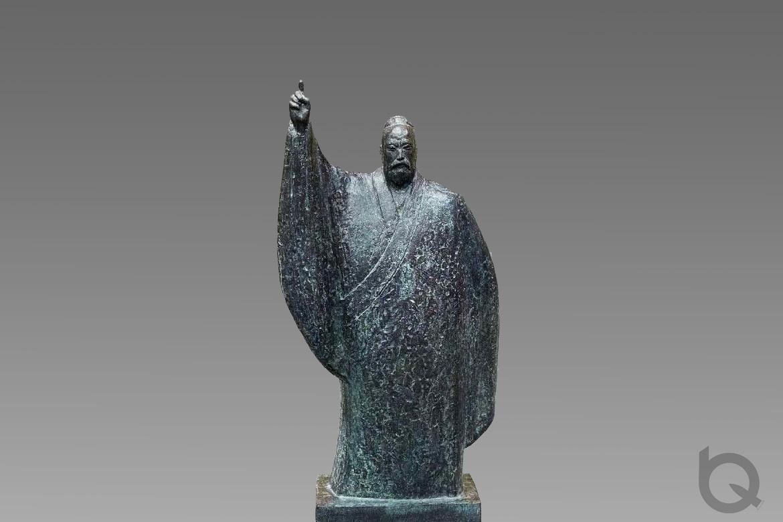 青铜材质铸铜古人像雕塑