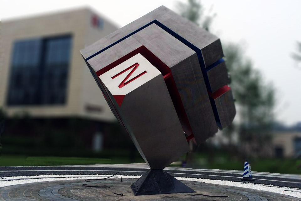 立方体城市景观不锈钢雕塑