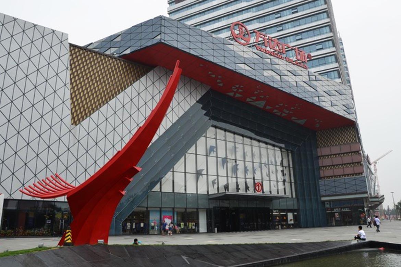 博仟城市雕塑厂家店潍坊万达广场大型园林景观不锈钢户外雕塑