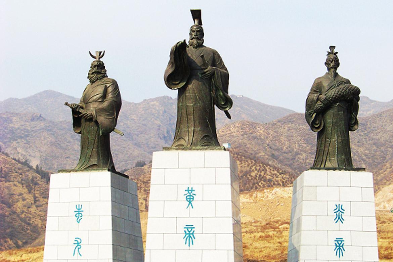 博仟铸铜雕塑公司塑造的涿鹿三祖像