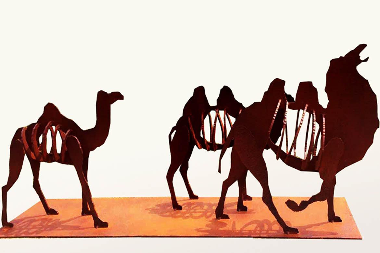 西域往事骆驼不锈钢动物万博体育彩票官网app案例欣赏