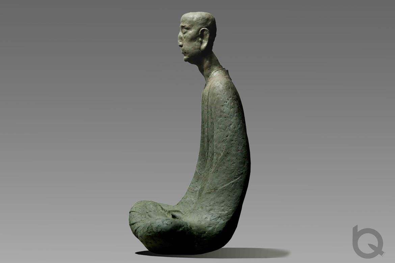 佛像雕塑人物制作的禅坐铸铜雕塑