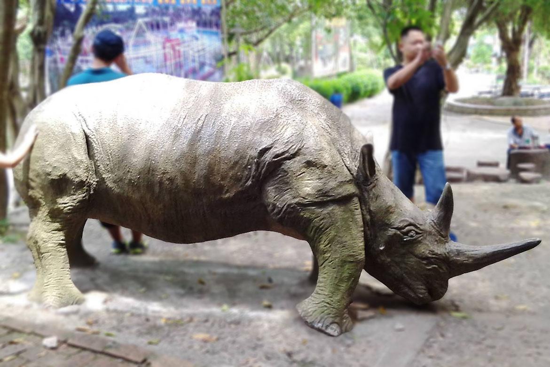 水泥压印动物图案