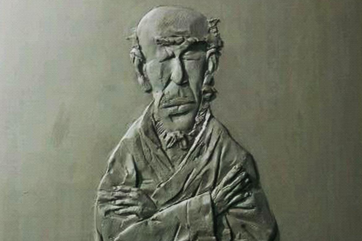 博仟北京万博体育彩票官网app公司创作的苍老老人抽象人物浮雕