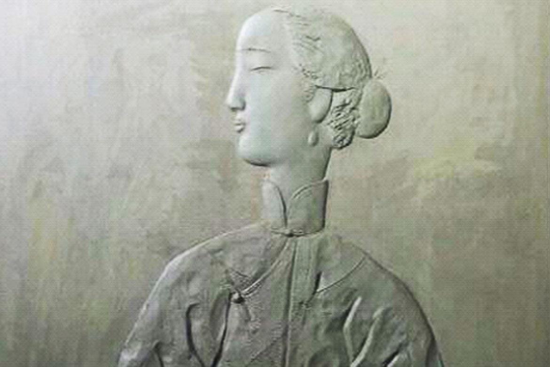 博仟北京万博体育彩票官网app公司创作的民国美女侧脸抽象人物浮雕