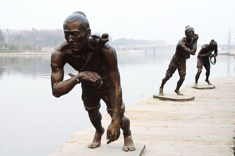 博仟北京雕塑公司的人物户外雕塑
