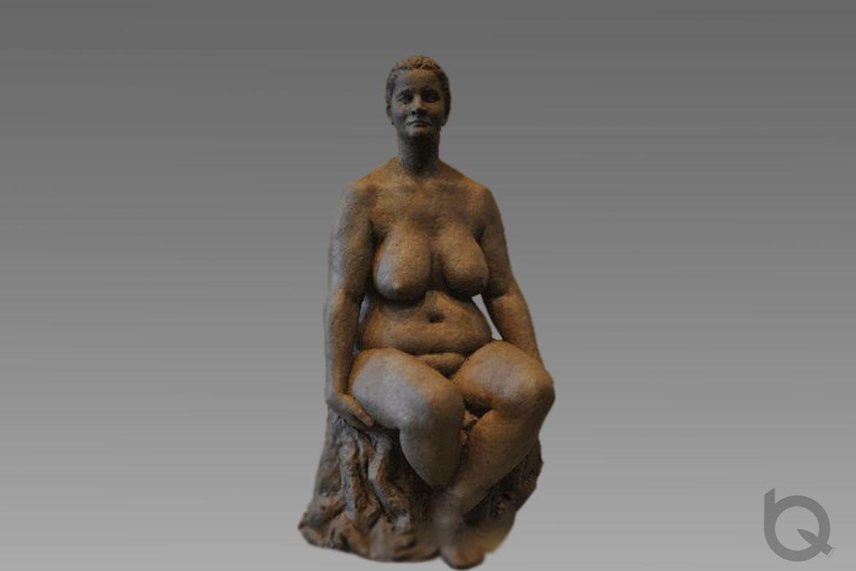 博仟雕塑公司胡学富老师为国外人体雕塑