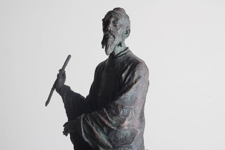 李白人物雕塑正面高清图欣赏