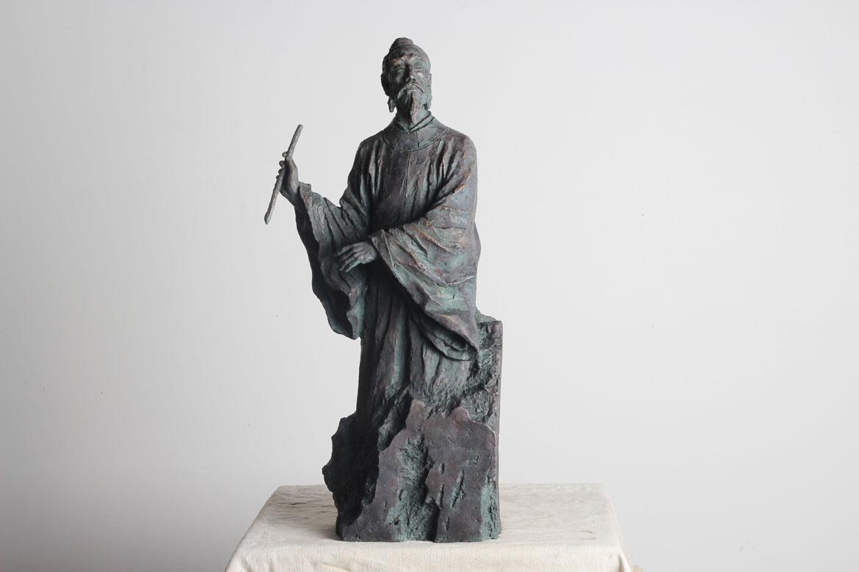 李白人物雕塑全景图