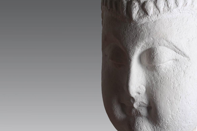 汉白玉神像佛像雕塑侧脸