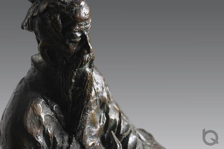高清孔子青铜古代人物雕塑
