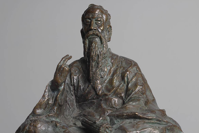 坐着的孔子青铜古代人物万博体育彩票官网app