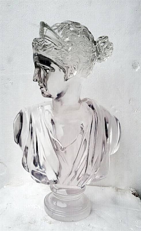 欧式人像透明树脂人物雕塑