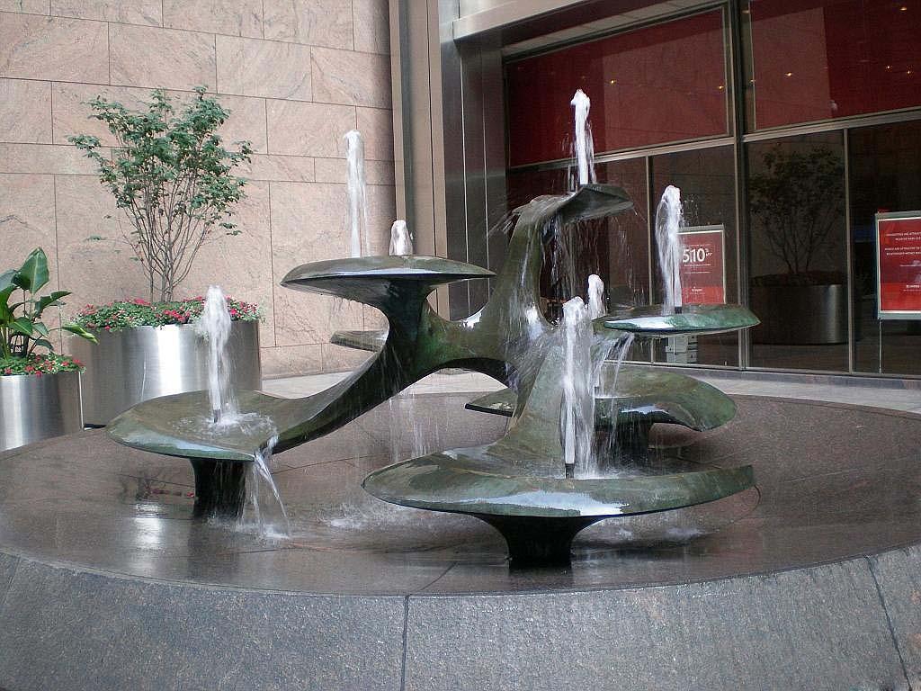 广场上的生命之树喷泉铸铜万博体育彩票官网app