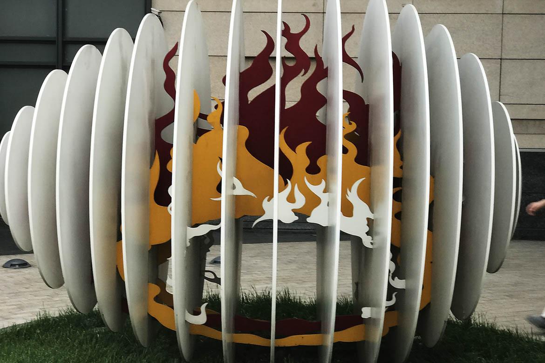 剪纸镂空样式不锈钢万博体育彩票官网app彩色火焰与蛋