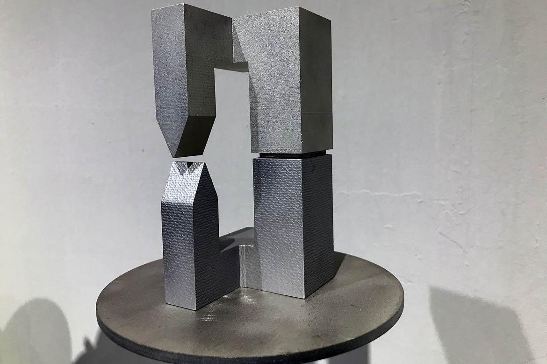 镀钛银色立体抽象几何体不锈钢万博体育彩票官网app小品造型