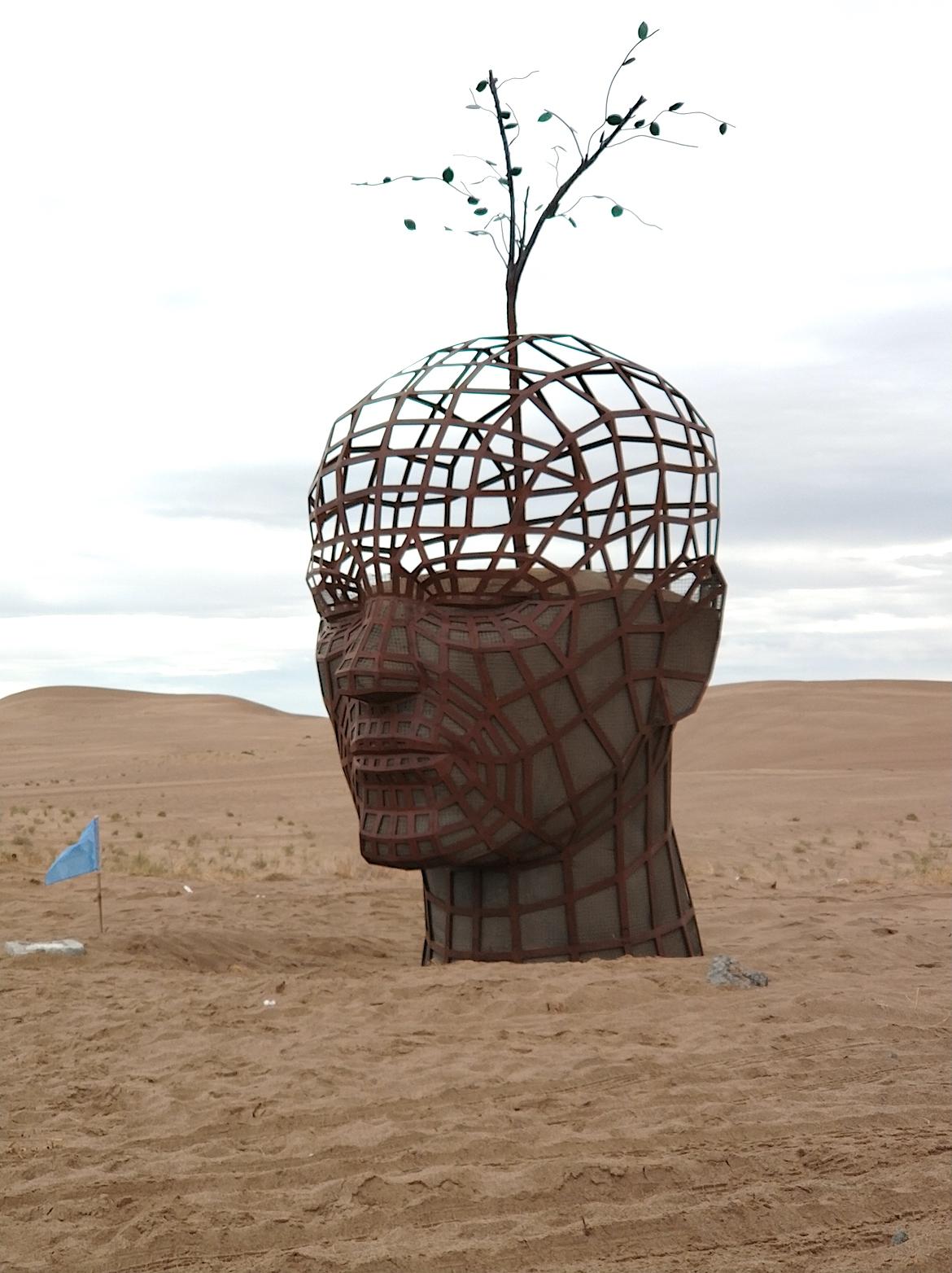 沙漠大人头不锈钢艺术镂空万博体育彩票官网app