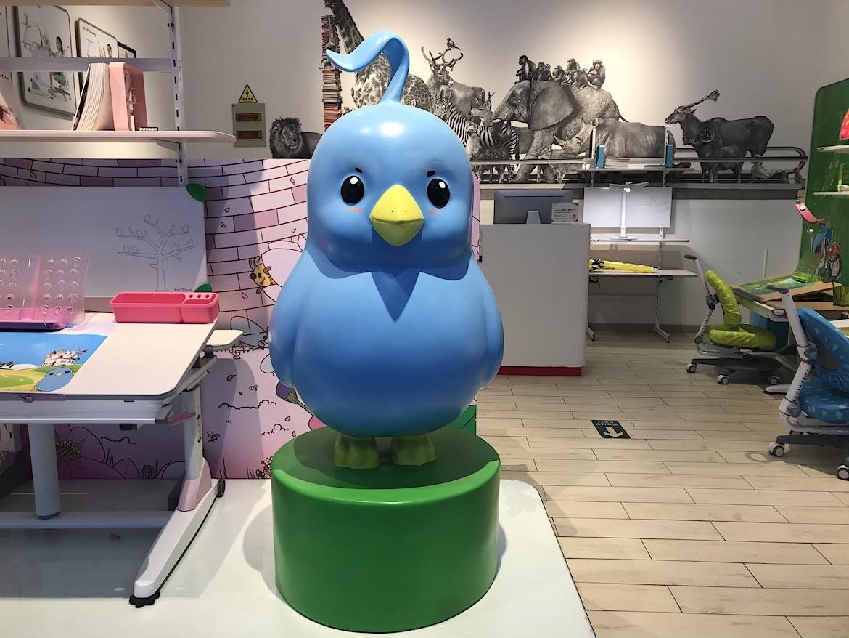 蓝色玻璃钢卡通小鸟万博体育彩票官网app图片