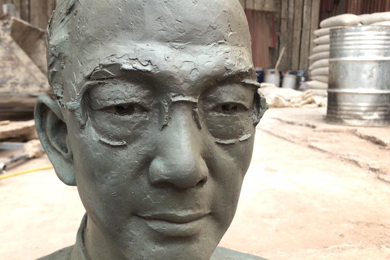 万博体育彩票官网app人像定制 陆志韦先生铸铜肖像制作