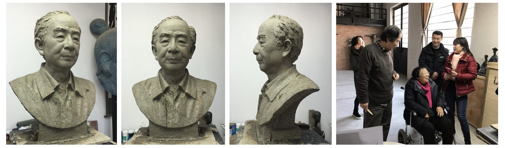 汤一介教授塑像